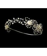 Silver Ivory Freshwater Pearl Bridal Wedding Reniassance Circlet Crown H... - $94.95