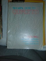 McCall's How To Quilt It Special 1973 Quilting Patchwork Applique Design 64pgs - $1.91