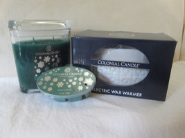 Colonial Candle Boxed Electric Wax Warmer, Snap & 8 oz Jar- SPICE WREATH - $36.00