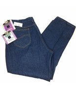 Vtg 39x29 Lee Riders High Waist Mom Jeans USA UNION MADE Dark Wash Sz 24 - $39.37