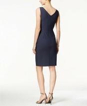 Alex Evenings Compression Embellished Ruched Sheath Dress Charcoal Size 18 $209 image 2