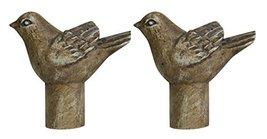 Urbanest Set of 2 Bird Lamp Finials, 1 3/4-inch Tall, Cottage - $19.79