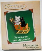 Hallmark Puppies on the Doorstep 2003  Miniature Keepsake Ornament - $15.83