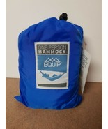 Equip ONE PERSON BLUE Travel 1.2 lb. Hammock 400 lb. Weight Capacity NEW - $27.99