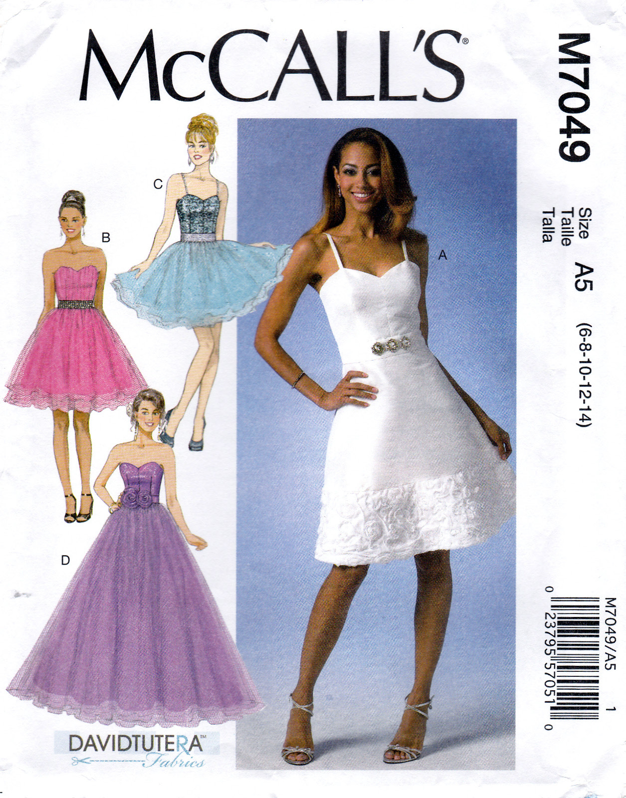 McCall's M7049 Misses Lined Dresses Sewing Pattern Sizes 6-8-10-12-14