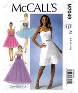 McCall's M7049 Misses Lined Dresses Sewing Pattern Sizes 6-8-10-12-14 - $10.25