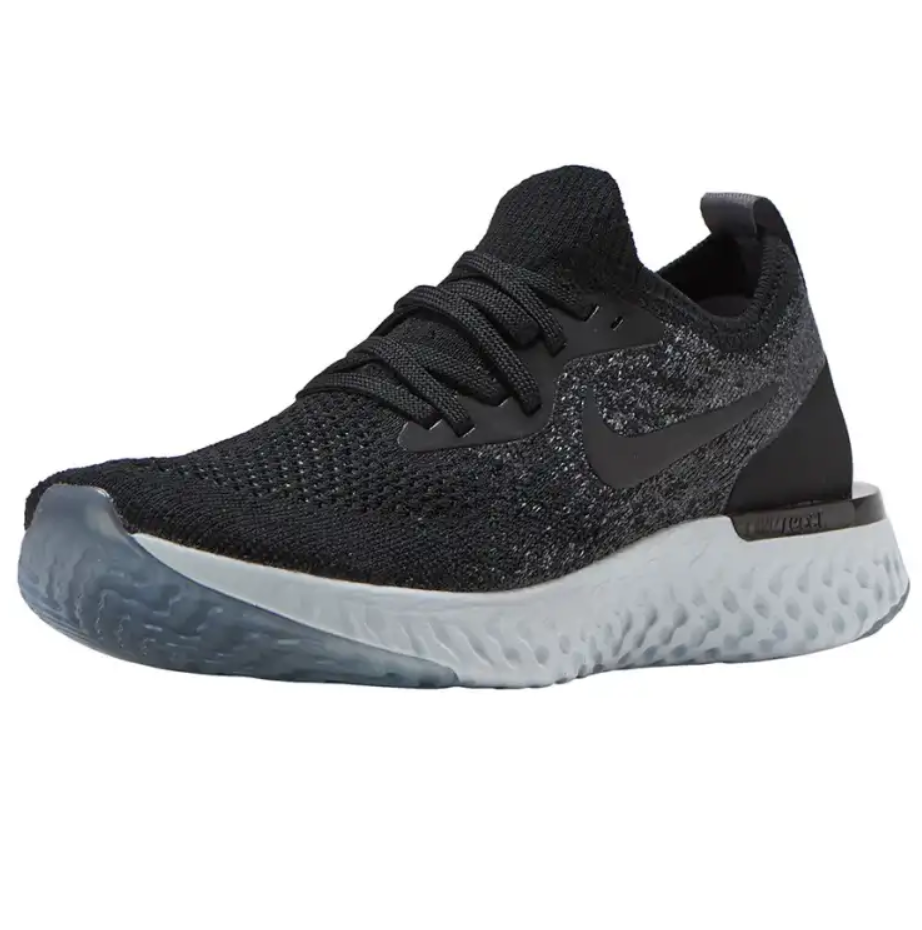 Nike Epic React Flyknit (GS) Black Dark Grey 943311 001 Youth Running Shoe Sizes image 3