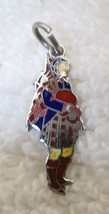 Vintage Sterling Silver Charm Scottish Bagpiper In great Detail 7/8 Inch... - $24.26