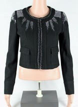 Guess Jeans los Angeles women's blazer sequined wool black size S - $33.56