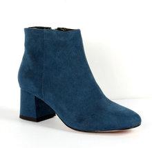 9CB156 European style 5.5 cm block heels booties,size 6-9,   navy blue - $68.80