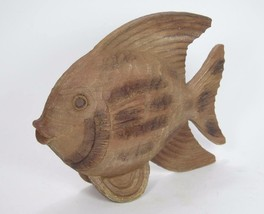 """3D Free Standing Faux Wood Finish Fish 13""""Long 10""""Tall 3.5""""Wide - $41.53"""