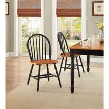 Better Homes and Gardens Autumn Lane Windsor Chairs, Set of 2, Black and... - $87.51
