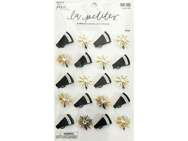 The Paper Studio La Petite Cheerleader Dimensional Stickers #1821172