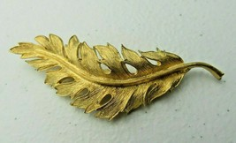 Vintage signed CORO GOLD TONE metal pin brooch - $30.00