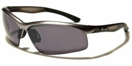 2x Mens Mirrored Lens Frame Wrap Around Sport Cycling Baseball Sunglasses Silver - $13.99