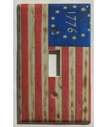 Betsy Ross star 1776 US Flag Wooden Switch Outlet wall Cover Plate Home Decor - $2.85 - $18.04