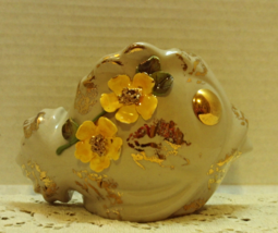 Vintage Kitsch FISH Wall Pocket Vase // Applied Flowers // Shabby Chic D... - $12.00