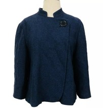 City UNLTD Navy Wool Cropped Coat Jacket Size 14 - $36.10