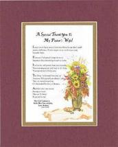 Personalized Touching and Heartfelt Poem for Thank-You - A Special Thank You to  - $19.75