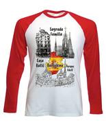 BARCELONA SPAIN - NEW RED SLEEVED TSHIRT - $19.53