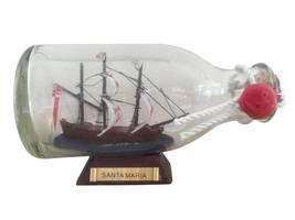 "Santa Maria Model Ship in a Glass Bottle 5"" - €22,75 EUR"