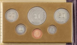 """1978 Singapur Casa de Moneda """"Año el Caballo"""" 6 Set en Original Vinyl Funda - $88.63"""