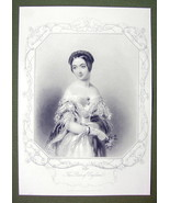QUEEN VICTORIA'S Court Beauty The Marchioness of Douro - SUPERB Print En... - $27.72