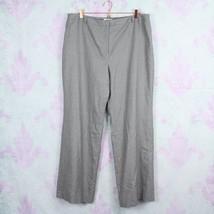 Talbots 20 Gray Pink Pinstripe Striped Wool Blend Wide Leg Dress Pants C... - $34.64