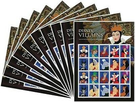 Villains 10 Sheets of 20 Forever USPS First Class one Ounce Postage Stamps - $165.00