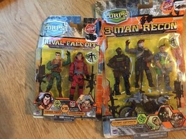 Lanard The Corps Rival Face-Off 3-Man Recon Soldier Military Action Figu... - $24.23