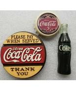 Vintage Coca Cola Magnets Arjon 1996 Bottle Cap Sign - $19.79