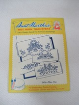 Vintage Aunt Marthas Embroidery Transfers #3436 Pillow Slips Cases  - $6.44
