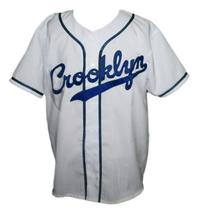 Custom Name # Crooklyn Baseball Jersey Button Down White Any Size image 1