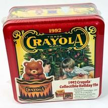 1992 Vintage Crayola Collectible Holiday Tin New Factory Sealed - $18.32