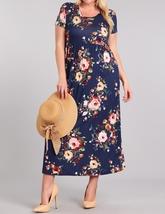Plus Size Maxi Dress, Plus Size Maxi Dresses, Navy Floral Plus Size Dress