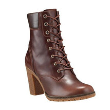 "Timberland Women's 6"" Glancy Dark Brown  Smooth Leather 3"" Heel Boots 19520 - $1.977,41 MXN"