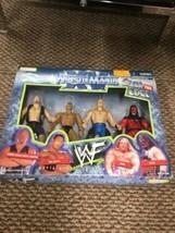 Jakks Wrestlemania Xv Over The Edge Figure Set Stone Cold Rock Hhh Kane - $89.09
