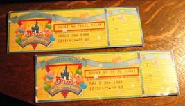 Walt Disney World Billete Talones - Vintage 1987 15 Celebración de Cumpl... - $39.31