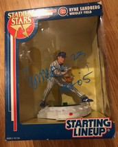 NEW RYNE SANDBERG Starting Lineup Action Figure CHICAGO CUBS Signed Auto... - $197.99