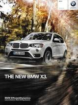 2015 BMW X3 sales brochure catalog US 15 xDrive 28i 28d 35i - $10.00