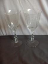 2 Vintage Clear Fostoria Navarre Water Goblets Fine Crystal NICE - $74.25