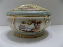 1784 Covered Trinket Dish Lidded Bowl 18th Century Vanity (2) - $31.68
