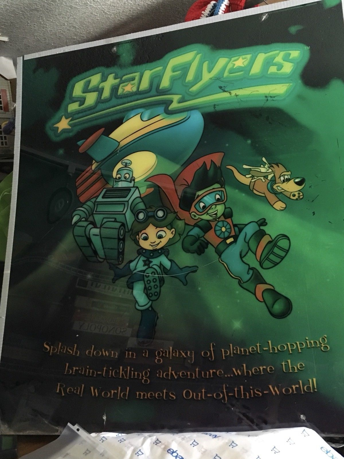 Vintage Starflyers Star Flyers Computer Learning Huge Plexiglass Arcade Sign