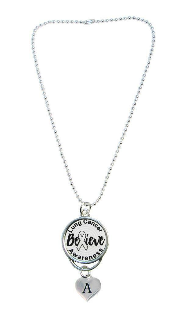 Custom Lupus Awareness Rear View Mirror Charm Choose Initial or Family Charm - $12.34