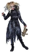 Zombie Girl Ghoul Dead Ghost Walking Scary Fancy Dress Halloween Child Costume - $33.69