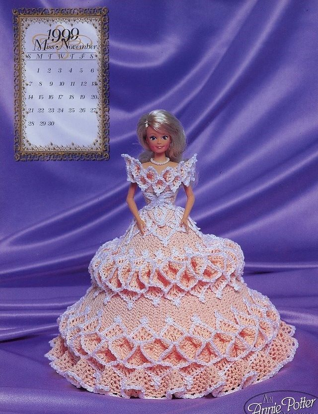 Primary image for Miss November 1999 Bridal Dreams Outfit fits Barbie Doll Annie's Pattern Booklet