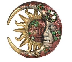 Mosaic Celestial Red and Gold Wall Decor - $39.97
