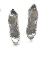 Vince Camuto Metallic Silver Gladiator Heels - $41.80