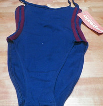 Girls Blue & Bergundy Dancewear Bodywear Leotard Capezio Size T/P - $7.92