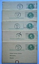 US (5) Scott UY7 Reply Postal Cards, Used, still attached. - $9.50